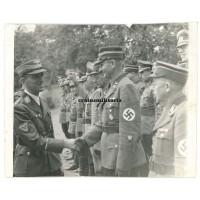 NSKK Korpsführer Erwin Kraus inspection