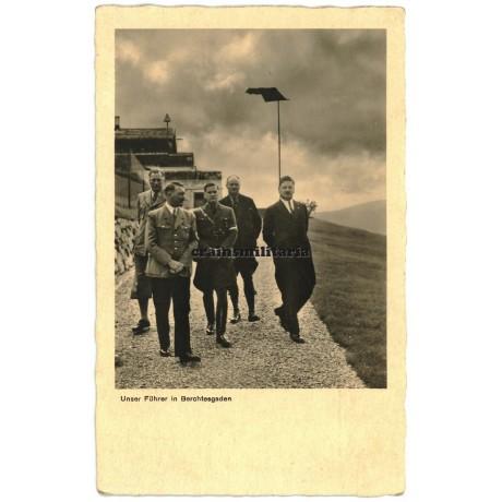 Hitler in Berchtesgaden postcard