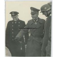 Knight's Cross winner Leopold Böhmer with Hans Rose