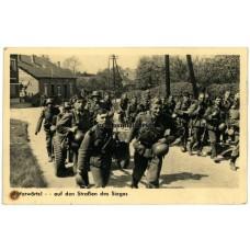 Propaganda postcard Belgium / France 1940