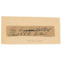 U-Boat Knight's Cross signature Karl Neitzel