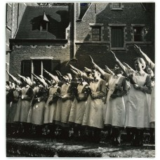 Flemish DRK nurses saluting