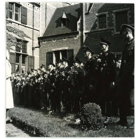Flemish SS and VNV members at Deurne ceremony