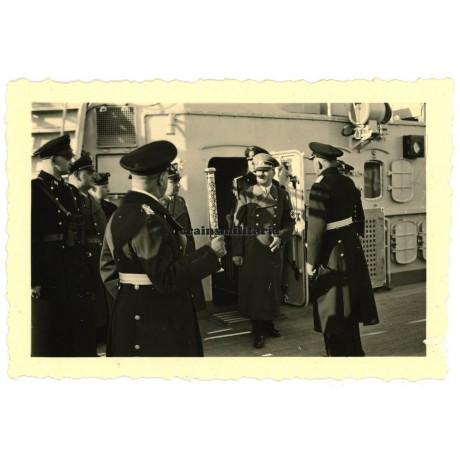 Hitler on Schlachtschiff Scharnhorst