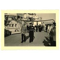 Hitler with Ciliax on Schlachtschiff Scharnhorst