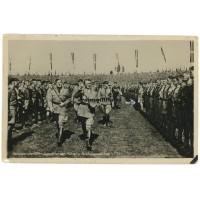 Hitler with von Schirach and Hannover Hitlerjugend postcard
