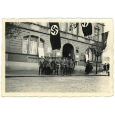 SA with propaganda at Rheinfelden town hall