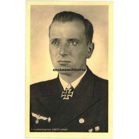 Korvettenkapitän Kretschmar - Hoffmann postcard