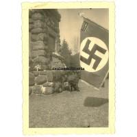 NSBO Flag in Würgendorf commemoration