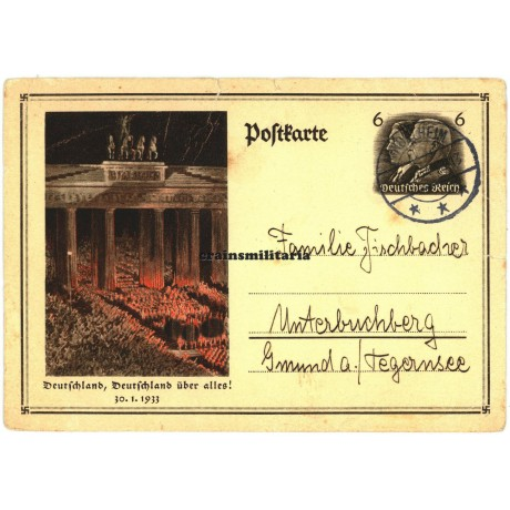 Deutschland über alles postcard