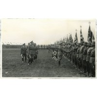 Hitler with flag bearers