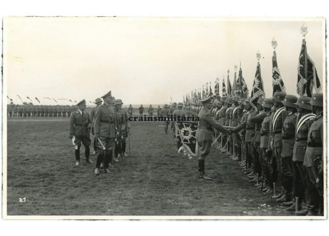 Hitler with flag bearers