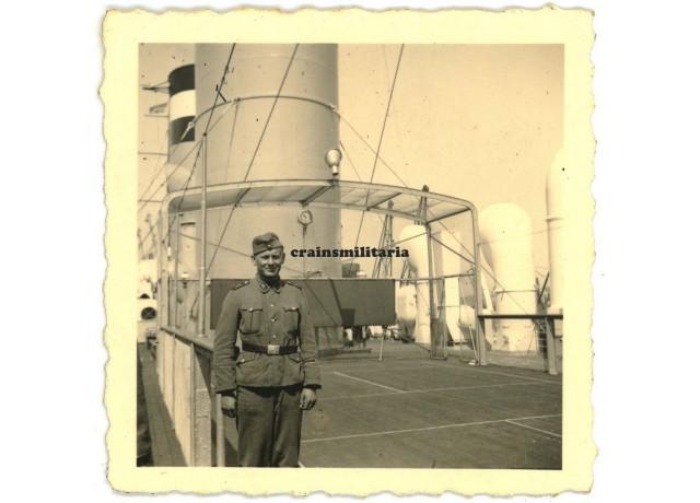 SS Deutschland soldier on ship