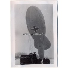 Observation balloon hauled in with SdKfz