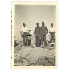 French colonial POW's laboring in Bretteville Normandy