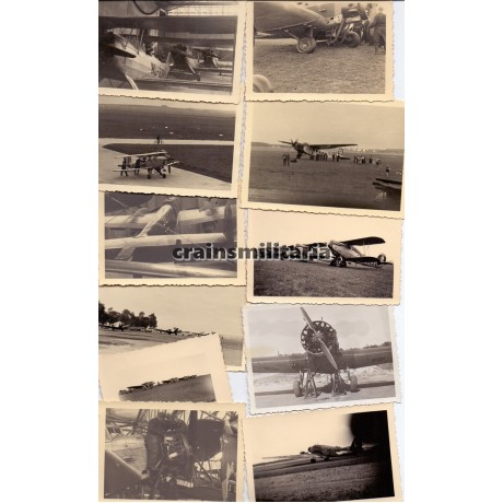 Lot of 11 airplane photos