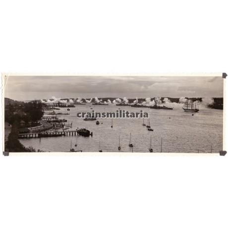 Panoramic ships photo