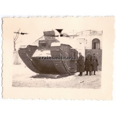 WWI Tank on display, Eastern Front