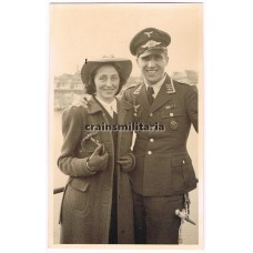 Luftwaffe Feldwebel with wife portrait