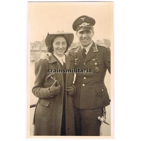 Luftwaffe Feldwebel with wife portrait