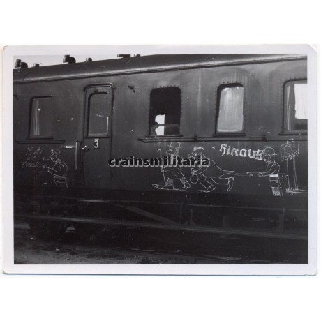 ***SOLD*** Antisemitic drawing on a German train in Poland