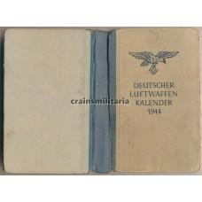 Pilot's Luftwaffenkalender diary 1944