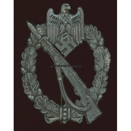 """Infanterie-Sturmabzeichen in Silber - maker """"f.o."""""""