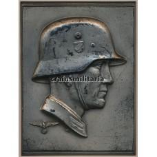 German soldier metal relief