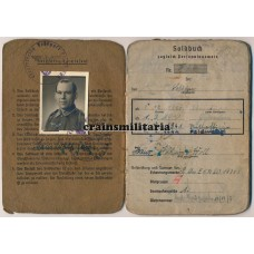 263.ID Feldwebel Soldbuch, award document and photo grouping