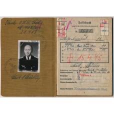 ***SOLD*** Kriegsmarine Soldbuch KIA officer Norway