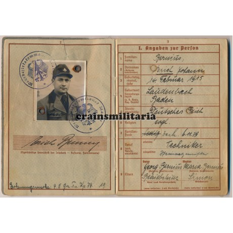 Wehrpass & Photo grouping Wachtmeister - France, Russia, Norway