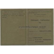 Führerschein 715.ID Italy 1944