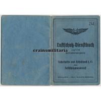 Luftschutz Dienstbuch