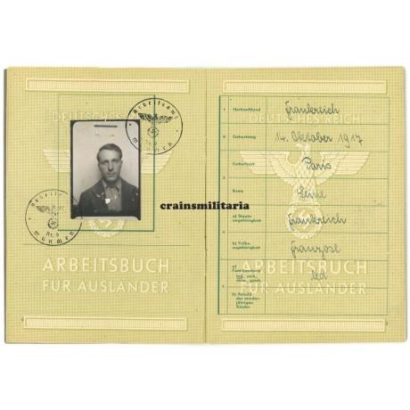 Arbeitsbuch für Ausländer – French, KZ Dachau, Aussenlager Kempten