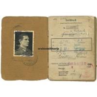 Officer Soldbuch - Festung Posen WIA 1945