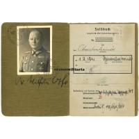 General Soldbuch - Generalveterinär Dr. Wilhelm Otto