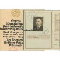 269.ID KIA Wehrpass with Heldentod document
