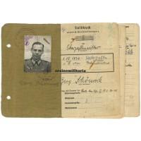 Soldbuch Baustab Speer officer