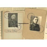 295.ID Norway POW Soldbuch & Wehrpass