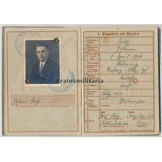 Wehrpass 10.ID KIA, France 1940 WIA