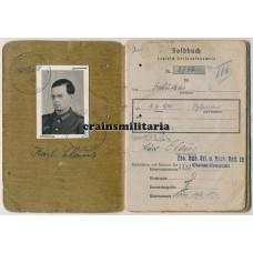 Brigade Jesser Soldbuch - French partisans WIA