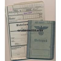 Jäger Wehrpass and Wehrstammbuch