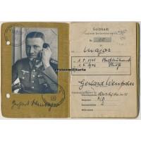 DKiG Panzer Oberst Soldbuch & Wehrpass grouping