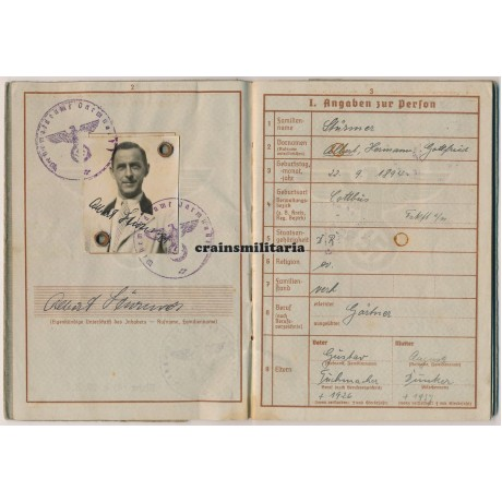 246.ID Wehrpass France 1940