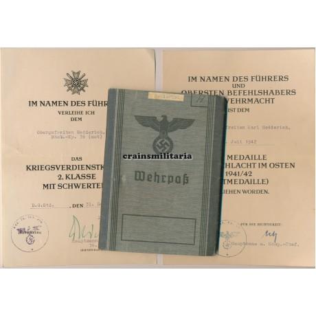 36.ID Wehrpass group KIA Trier 1944