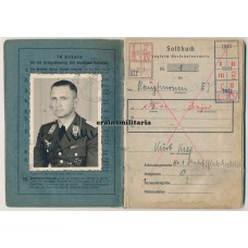 Luftwaffe Major Soldbuch - Danzig 1945 KIA