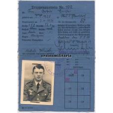 Truppenausweis KIA Flak soldier