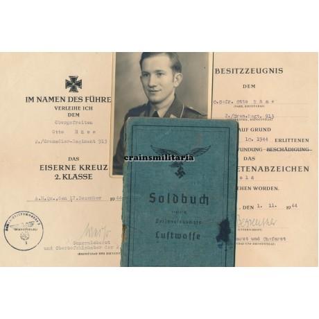 Soldbuch & award docs 349.VGD