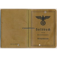 Kriegsmarine Soldbuch, died as POW France 1945