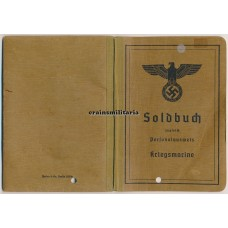 Kriegsmarine Soldbuch, died as POW France 1945